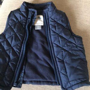 Blue fleece lined vest